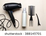 barber set with tools ... | Shutterstock . vector #388145701
