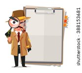detective  looking at you... | Shutterstock .eps vector #388153681