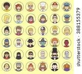 vector different avatars people.... | Shutterstock .eps vector #388155379