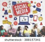 social media connection global... | Shutterstock . vector #388157341