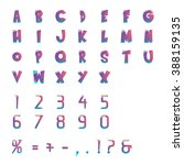 typographic alphabet in a set.... | Shutterstock .eps vector #388159135