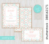 stylish geometric save the date ... | Shutterstock .eps vector #388162171