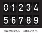black flip counter with white... | Shutterstock .eps vector #388164571