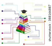 book infographics. a stack of... | Shutterstock .eps vector #388166887
