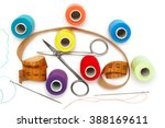 accessories for sewing and... | Shutterstock . vector #388169611