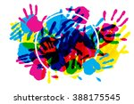 big circle frame made of... | Shutterstock .eps vector #388175545