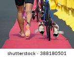 triathlon bike the transition... | Shutterstock . vector #388180501