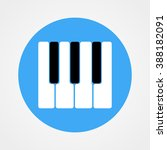piano keys icon. vector... | Shutterstock .eps vector #388182091