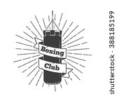 boxing club and martial arts... | Shutterstock .eps vector #388185199