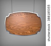 hanging wooden board | Shutterstock . vector #388185355