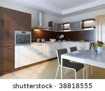 modern kitchen. interior design ... | Shutterstock . vector #38818555