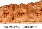 panorama of the naqsh e rustam  ... | Shutterstock . vector #388188421