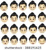 little boy various face... | Shutterstock .eps vector #388191625