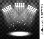 bright stadium spotlights on... | Shutterstock .eps vector #388191949