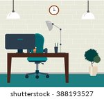 office room. table with... | Shutterstock .eps vector #388193527