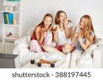 friendship  people  pajama... | Shutterstock . vector #388197445