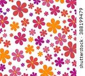 multicolored flowers on white... | Shutterstock .eps vector #388199479