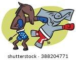 the democratic donkey getting...