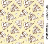 seamless pattern with different ... | Shutterstock .eps vector #388207681