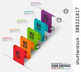 abstract 3d business stair step ... | Shutterstock .eps vector #388221817