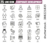 thin line icons set of... | Shutterstock .eps vector #388221835