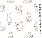 Seamless Pattern With Cartoon...