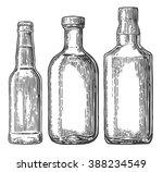 set bottle for beer  whiskey ... | Shutterstock .eps vector #388234549