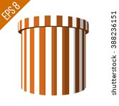 striped container. tub food... | Shutterstock .eps vector #388236151