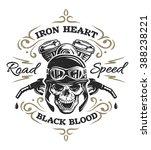 vintage biker skull  t shirt...   Shutterstock .eps vector #388238221