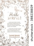 hello spring card. vector... | Shutterstock .eps vector #388238839