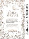 hello spring card. vector... | Shutterstock .eps vector #388238839