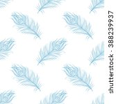 seamless feather pattern.... | Shutterstock .eps vector #388239937