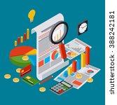 business report  financial... | Shutterstock .eps vector #388242181