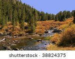 stream in late afternoon in the ... | Shutterstock . vector #38824375