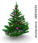 3d illustration of christmas... | Shutterstock . vector #38824654