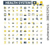 health system icons  | Shutterstock .eps vector #388252921