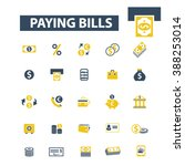 paying bills icons  | Shutterstock .eps vector #388253014