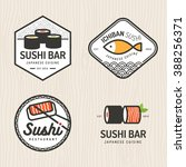 set of japanese food logo ...
