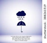 cloud and umbrella icon | Shutterstock .eps vector #388261519