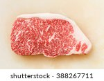 close up wagyu beef striploin... | Shutterstock . vector #388267711