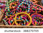 colorful  wooden round... | Shutterstock . vector #388270705