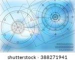 mechanical engineering drawings.... | Shutterstock .eps vector #388271941