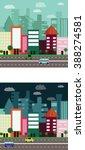city illustration. urban city.... | Shutterstock .eps vector #388274581
