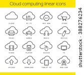 cloud computing linear icons... | Shutterstock .eps vector #388276234
