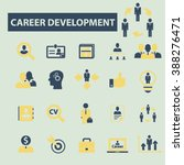 career development icons  | Shutterstock .eps vector #388276471