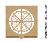 flat pizza delivery. vector... | Shutterstock .eps vector #388283689