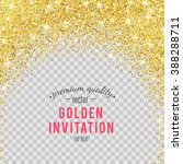 gold glitter texture isolated... | Shutterstock .eps vector #388288711