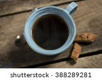 high angle close up of blue... | Shutterstock . vector #388289281