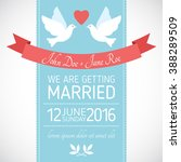 wedding card invitation with... | Shutterstock .eps vector #388289509