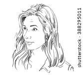 portrait of delicate doubting... | Shutterstock .eps vector #388295011
